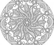 Coloriage Mandala Soleil difficile
