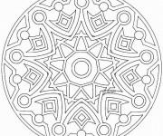 Coloriage Mandala Soleil difficile en ligne