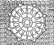 Coloriage et dessins gratuit Mandala Soleil en couleur à imprimer