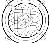 Coloriage Mandala Soleil facile