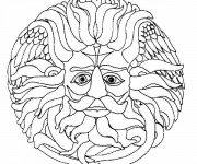 Coloriage et dessins gratuit Mandala Soleil magique à imprimer