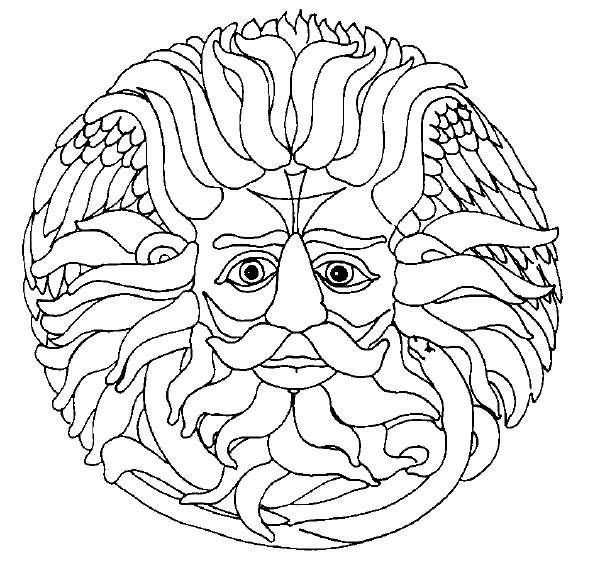 Coloriage et dessins gratuits Mandala Soleil magique à imprimer