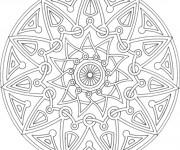 Coloriage Mandala Soleil magique à télécharger