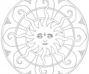 Coloriage Mandala Soleil personnalisé
