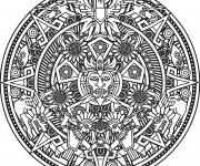 Coloriage Mandala Soleil pour adulte