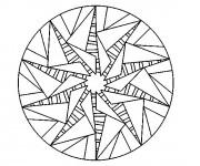 Coloriage Mandala Soleil stylisé