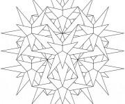 Coloriage Mandala tridimensionnel