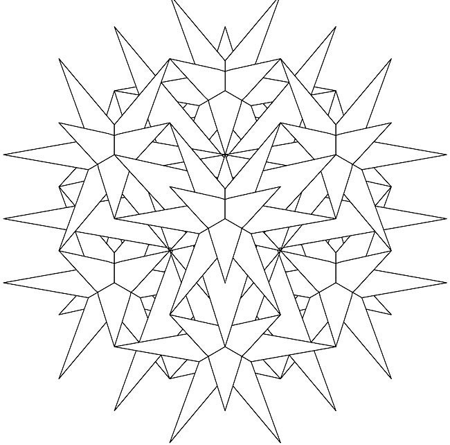 Coloriage et dessins gratuits Mandala tridimensionnel à imprimer