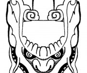 Coloriage dessin  Masque 1