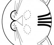 Coloriage dessin  Masque 11