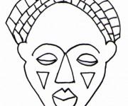 Coloriage dessin  Masque 12