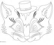 Coloriage dessin  Masque 14