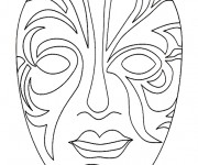 Coloriage dessin  Masque 16