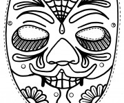 Coloriage dessin  Masque 18