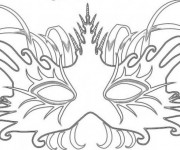 Coloriage dessin  Masque 5