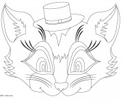 Coloriage Masque animaux