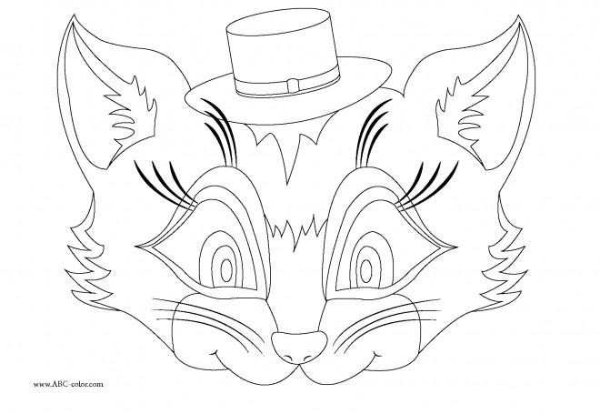 Coloriage masque animaux dessin gratuit imprimer - Dessin de masque a imprimer ...