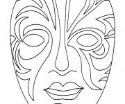 Coloriage Masque artistique