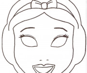Coloriage Masque Blanche Neige