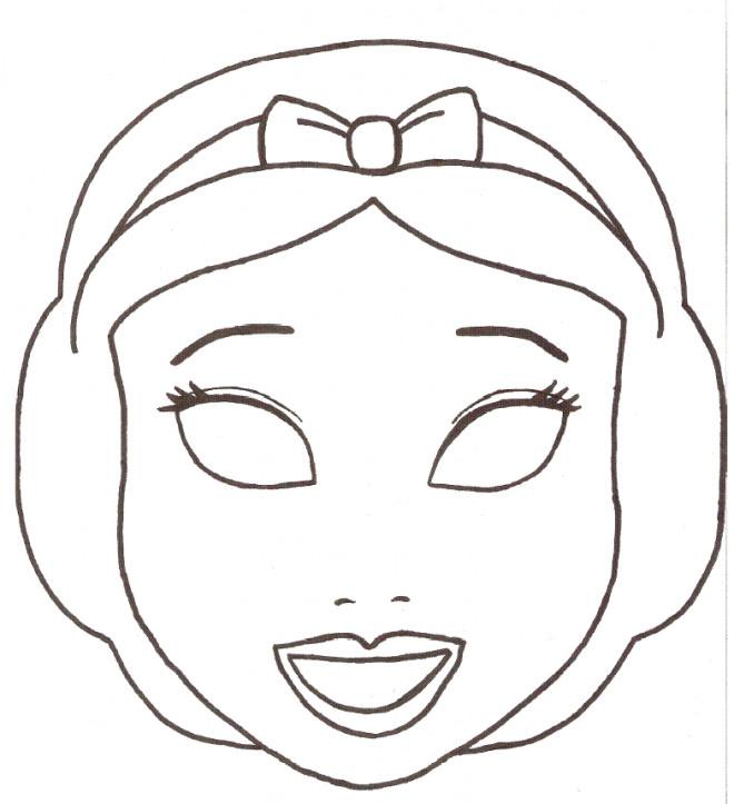 Coloriage Masque Blanche Neige Dessin Gratuit à Imprimer