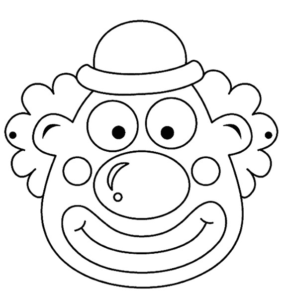 Coloriage Masque Clown.Coloriage Masque Clown Dessin Gratuit A Imprimer