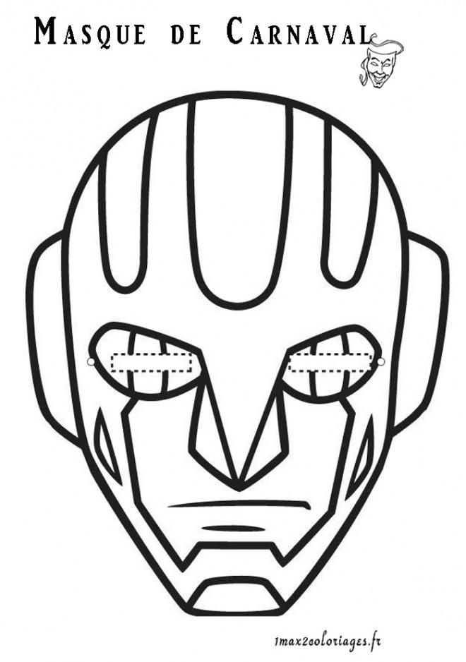 Coloriage masque de carnaval dessin gratuit imprimer - Masque spiderman a imprimer ...