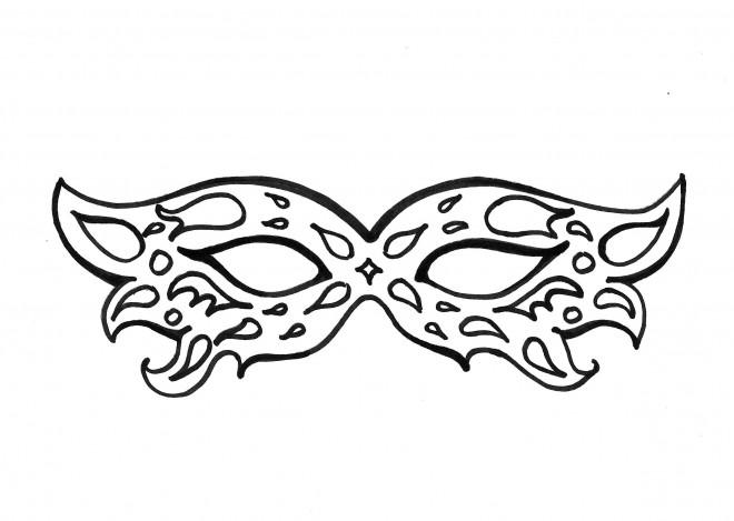Coloriage masque de carnaval couleur dessin gratuit imprimer - Masque de carnaval de venise a imprimer ...