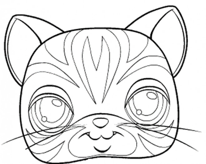 Coloriage masque de chat kawaii dessin gratuit imprimer - Chat coloriage masque ...