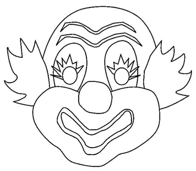 Coloriage Masque Clown.Coloriage Masque De Clown Facile Dessin Gratuit A Imprimer