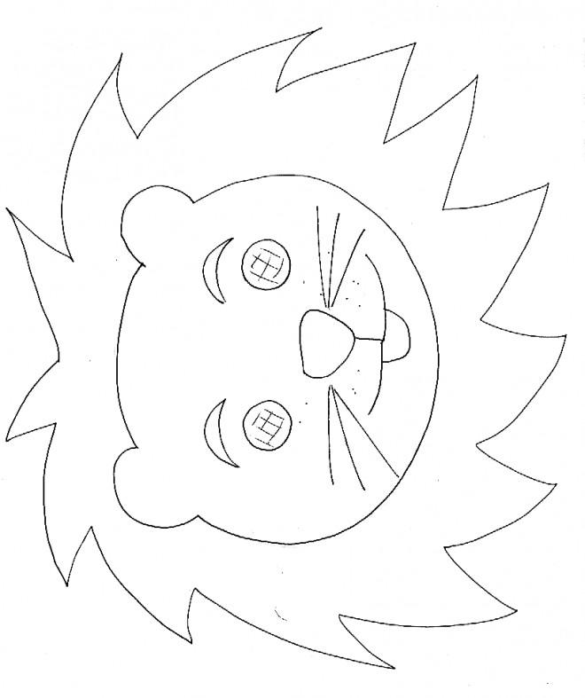Coloriage masque de lion dessin gratuit imprimer - Tete de lion dessin facile ...