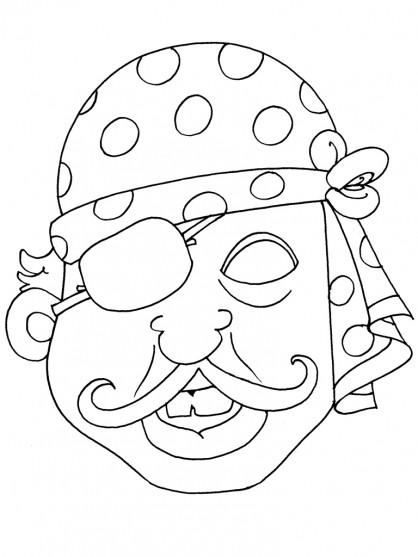 Coloriage masque de pirate dessin gratuit imprimer - Dessin de masque a imprimer ...