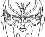 Coloriage Masque décoré