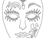 Coloriage Masque en couleur