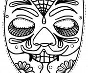 Coloriage Masque en noir et blanc
