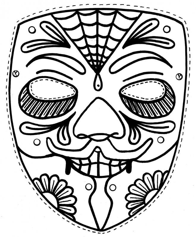 coloriage masque en noir et blanc dessin gratuit imprimer. Black Bedroom Furniture Sets. Home Design Ideas