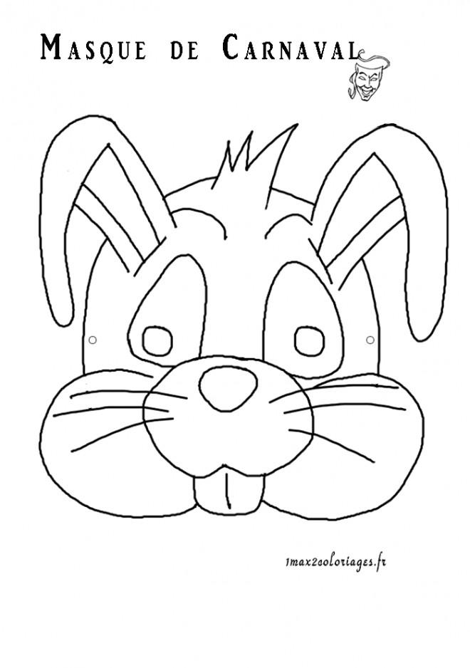 Coloriage masque lapin dessin gratuit imprimer - Masque papillon carnaval ...