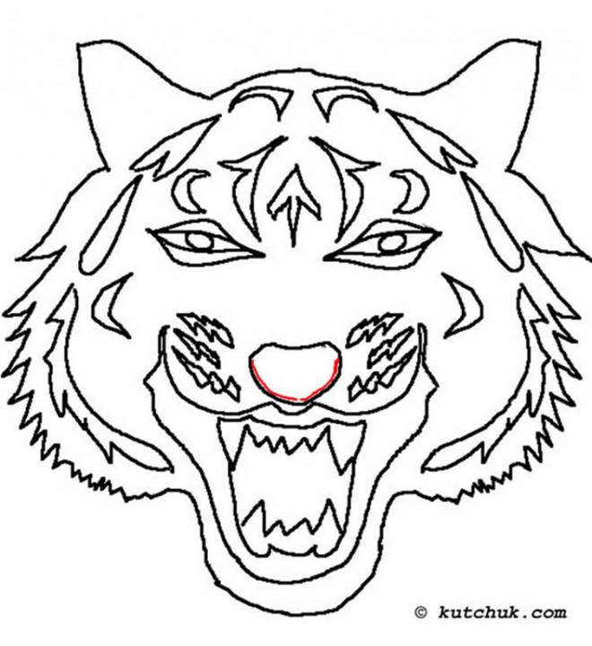 Coloriage masque loup dessin gratuit imprimer - Dessin de masque de carnaval ...