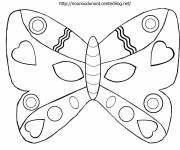 Coloriage Masque Papillon