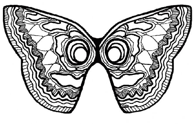 Coloriage masque papillon maternelle dessin gratuit imprimer - Coloriage de papillon a imprimer gratuit ...