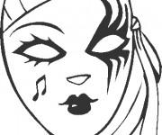 Coloriage masque pour fille dessin gratuit imprimer - Masque a imprimer pour fille ...