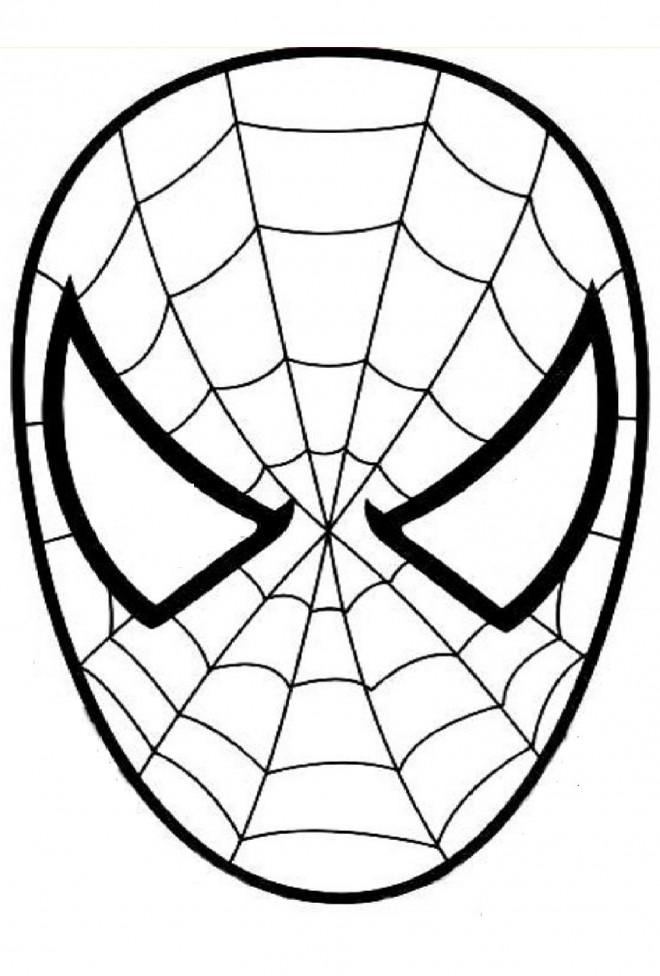 Coloriage Masque Spiderman Dessin Gratuit A Imprimer