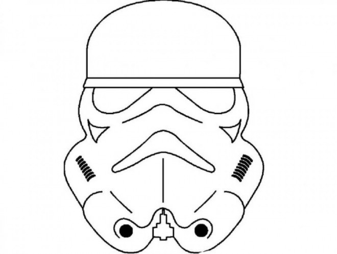 Coloriage Masque Star Wars Dessin Gratuit A Imprimer