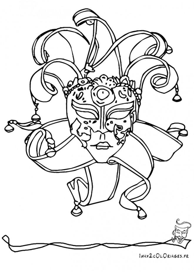 Coloriage masque stylis dessin gratuit imprimer - Coloriage masque de carnaval ...