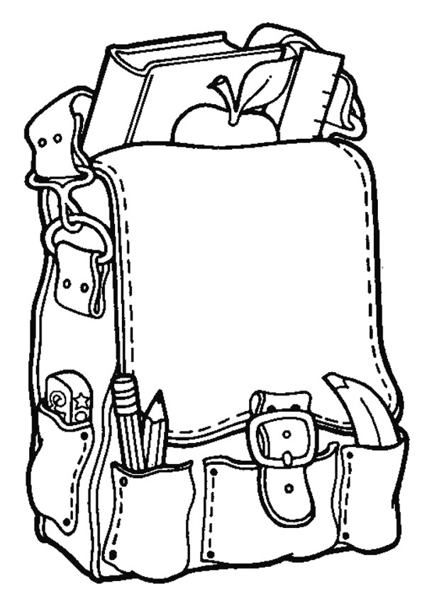 Coloriage et dessins gratuits Cartable d'élève maternelle à imprimer