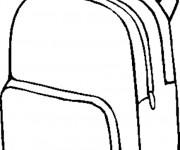 Coloriage Cartable en noir et blanc à colorier