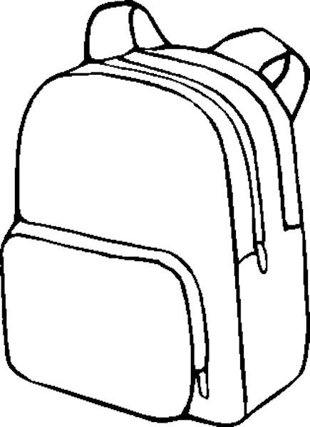 Coloriage cartable en noir et blanc colorier - Coloriage cartable maternelle ...