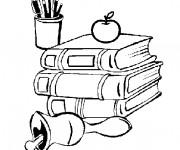 Coloriage et dessins gratuit Des Livres Scolaire à imprimer