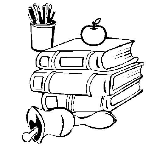 Coloriage et dessins gratuits Des Livres Scolaire à imprimer