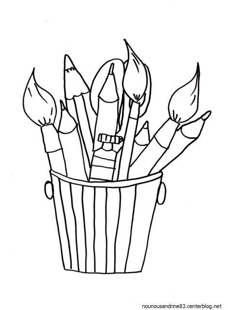 Coloriage des pinceaux pour dessiner dessin gratuit imprimer - Des images a colorier et a imprimer ...