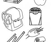 Coloriage et dessins gratuit Fourniture Scolaire à imprimer